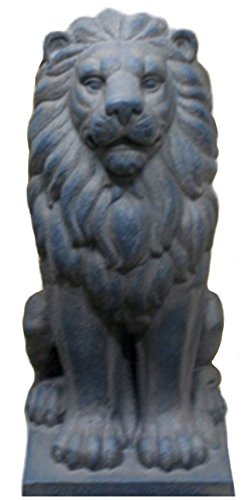 TIAAN 28¡± Lion King Statues and Sculptures (Dark Grey)