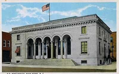 N472 NC High Point Post Office Postcard