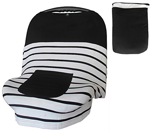 Baby Car Seat Covers for Girls Boys, Stretchy Infant Canopy Cover (Car Seat Covers Lamb compare prices)