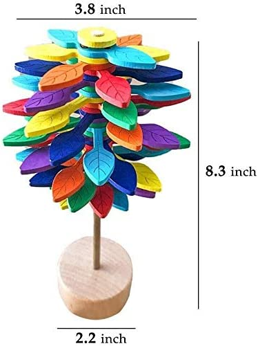 Home and Office Decor Colorful Leaves Color : Multicolor Leaf FANPING Rotating Lollipopter Toy Stress Relief Wooden Toys for Chldren and Adults