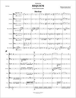 amazon.com: requiem - selections for 8-part trombone ensemble: wolfgang  amadeus mozart, randall malmstrom: books  amazon