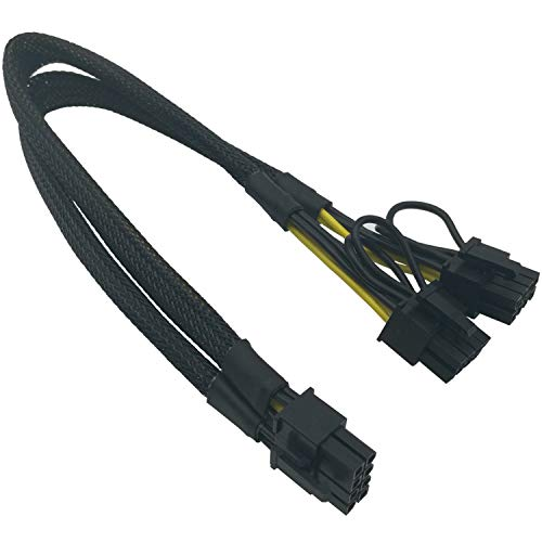 COMeap 8 Pin Male to Dual 8 Pin(6+2) Male PCIe Power Adapter Cable for Dell T3600 T3610 T5600 T5610 T5610 T7600 T7610 5810 T5810 T7810 and IBM X3650 M4 M513-inch(34cm)