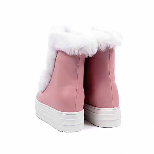 ef0b01e8e469 high-quality Charm Foot Women s Cute PU   Rabbit Hair Platform Wedge High- heel
