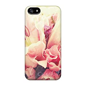 Tpu Fashionable Design Bouquet Rugged Case Cover For Iphone 5/5s New