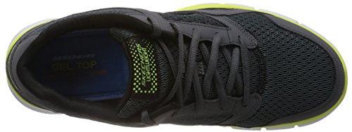 Skechers Equalizer - zapatilla deportiva de material sintético hombre Carbón