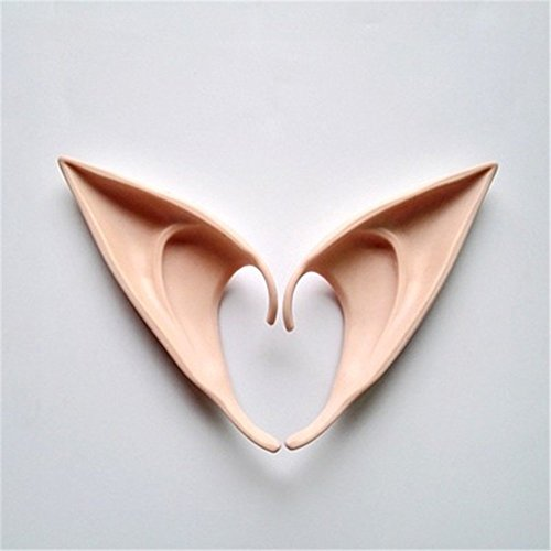 Elf Ears Cosplay Accessories Halloween Party Latex Soft Pointed Prosthetic False ears (12cm)