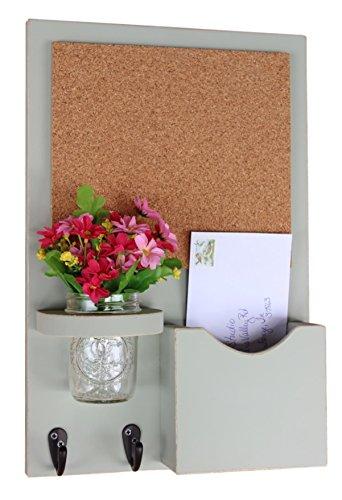 Legacy Studio Decor Cork Board Mail Organizer - Mail and Key