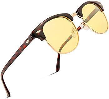 Feidu FD3030 Retro Polarized Half Metal Unisex Sunglasses