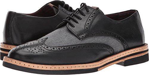 Ben Sherman Men's Julian Wingtip Oxford, Black/Grey, 10 M US (Ben Sherman Casual Shoes)