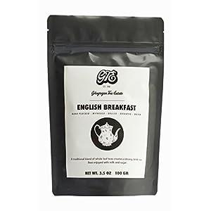 Brisk English Breakfast Full Leaf Black Tea Leaves (50+ Cups) - Full Bodied Breakfast Black Tea - Direct from 5th Generation Tea Farm - Perfect for Milk Tea, Cold Brew and Kombucha - 3.5 oz Gift Pouch