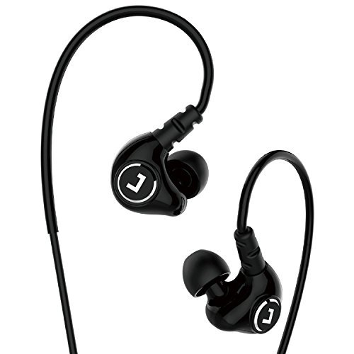 Jayfi JET-830 High Definition Noise Isolating In-Ear Headphones Sweatproof Sports Earbuds for Running Gym Jogging Earbuds Heavy Bass Earphones with Memory Wire Mic