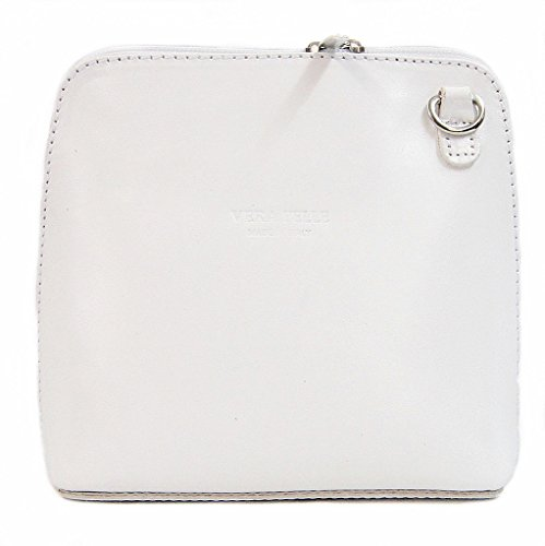 Shoulder White Handbag Bag Black Genuine or Cross Body Italian Leather Small in xqnPwP7T0B