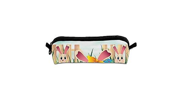 Pengyong Estuche para lápices y bolígrafos con diseño de Conejo para Colorear, con Cremallera, para cosméticos, Monedas, para niños, Adolescentes y Otros Suministros Escolares: Amazon.es: Hogar