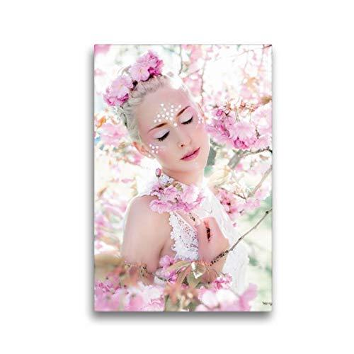 CALVENDO Toile en Textile de qualité supérieure 30 cm x 45 cm de Haut, cerisiers