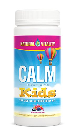 Natural Vitality CALM Kids, The Kids' Calm-Focus Drink Mix, Berry, 4oz