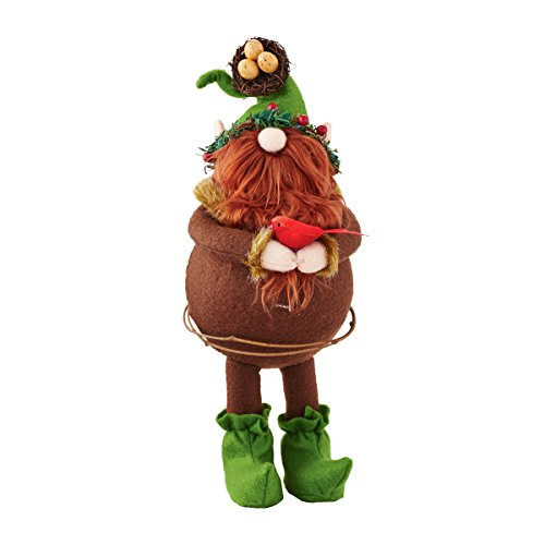 Department 56 for The Holidays Gnome with Bird Figurine
