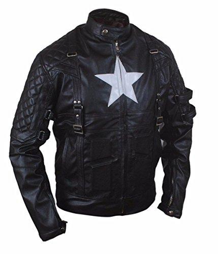Leatherly Veste Homme 2015 New Age Captain Star Shield Veste en cuir véritable