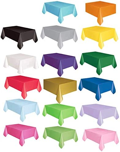 LIGH Disposable Party Tablecloth Pe Plastic Cloth Birthday Dessert Table Solid Color Tablecloth 137X183Cm - Deep Purple - 137X183cm