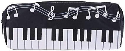 XiuginFU Estuche para lápices con notas musicales, teclado y ...