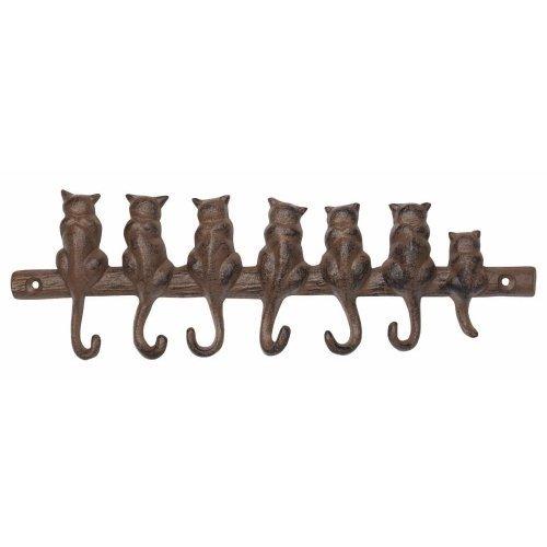 Iron Cat Key Rack with 7 Hooks