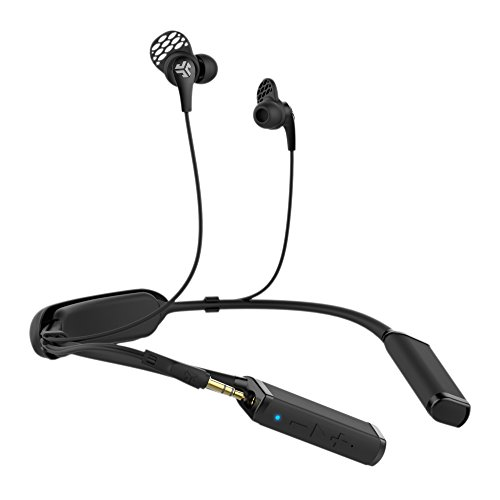 JLab Audio Gravity Bluetooth Wireless Neckband | Bluetooth 4.1 | Titanium 10mm Drivers | 10 Hour Battery Life | 3.5mm Headphone Jack Plug-in | Black