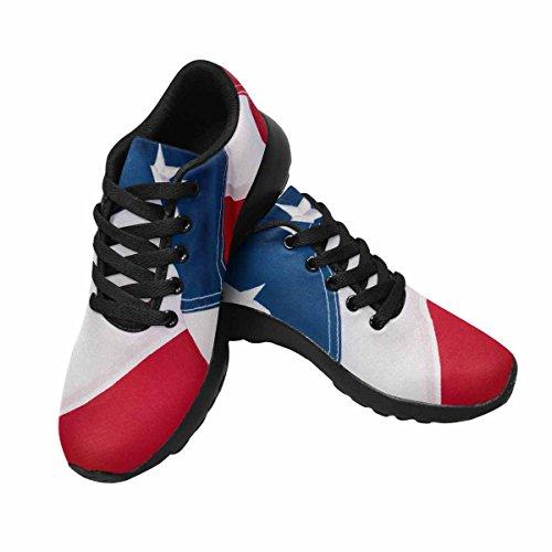 D-histoire Jogging Running Sneaker Drapeau Américain Womens Casual Confort Sport Marche Chaussures De Course Noir