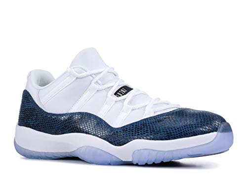 Jordan Air 11 Retro Low Le (White/Black-Navy 7) (Authentic Jordan 11 Space Jam For Sale)