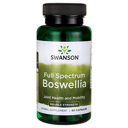 Strength Capsules Double 60 (Swanson Boswellia Joint Mobility Respiratory Health Support Supplement Full Spectrum Double Strength 800 mg 60 Capsules)