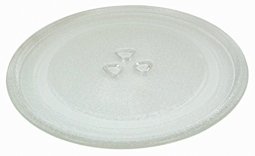 "Small 9.6""/24.5cm Microwave Glass Plate/Microwave Glass Turntable Plate Replacement - For Small Microwaves"