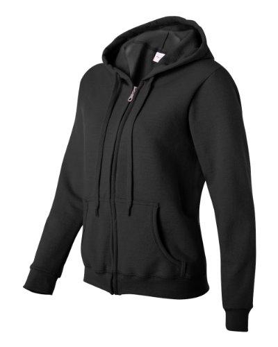 Gildan+Women%27s+Heavy+Blend+Full-Zip+Hooded+Sweatshirt%2C+Small%2C+Black