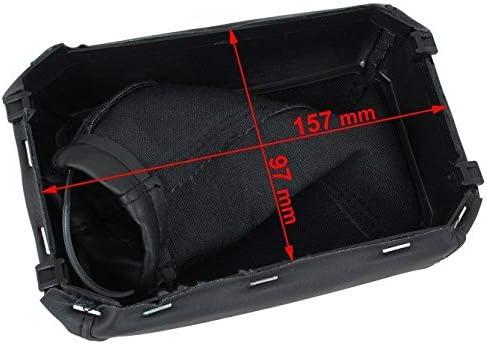 Schaltmanschette Schaltsack mit Rahmen Schwarz myshopx SR14