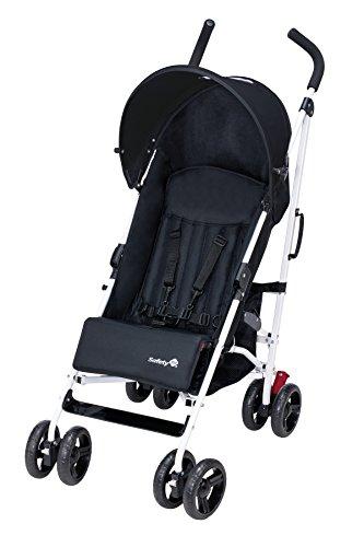 Safety 1st 11327681 Slim, kompakter Liegebuggy mit Sonnenverdeck, schwarz/weiß