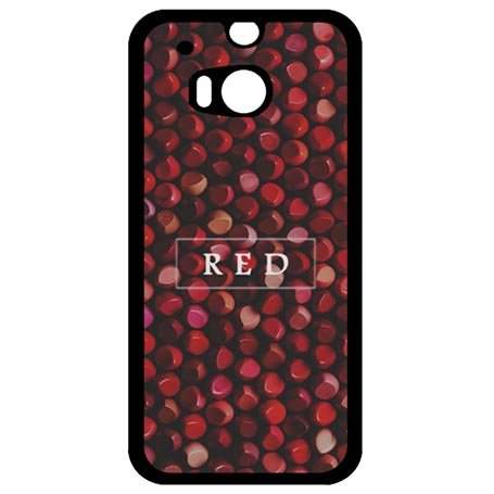 Art Word Anti-scratch HTC One M8 Phone Case Fancy Customized Red Lipstick