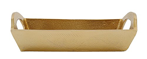 Creative Co-Op Decorative Aluminum Tray, Gold