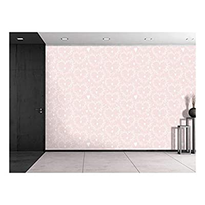 Amazing Creative Design, Large Wall Mural Seamless Floral Pattern Vinyl Wallpaper Removable Decorating, Professional Creation