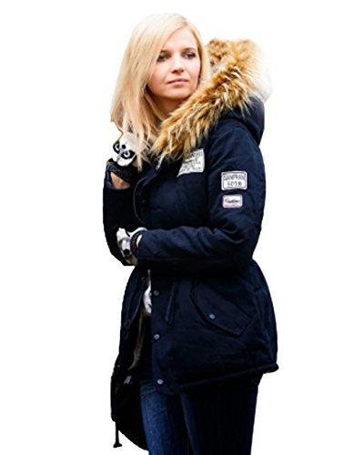 Winter Kapuzenjacke,CRAVOG Frauen Winterjacke Langarm Wintermantel Steppjacke Kapuzenpullover Kordelzug Daunenjacke Outwear Jacke Pelzkragen Oberbekleidung, Einheitsgröße