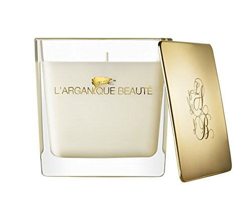 L 'arganique Beaute Luxury Scented Candle、Perfumed香りSpa Candle – Made w/100 %大豆ワックス、鉛フリーWick、純粋なモロッコアルガンオイルEssence – For Baths、クリスマス、休日、 14.1oz B077J59P2Y  14.1oz