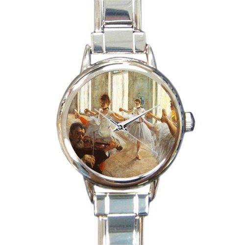 Valentine's Day Girlfriends Gifts Edgar Degas Ballet Dancers Rehersal Women's Italian Charm Watch