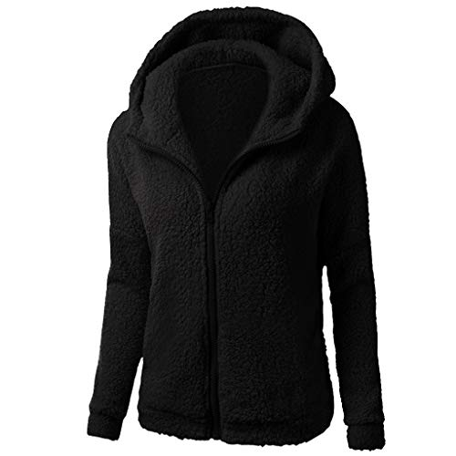 OTTATAT Solid Color Hoodies For Women,2019 Autumn Winter Ladies Hooded Zipper Slant Pocket Warm simple Cotton Outwear Soft Comfort Plus Size Slim Loose Home Outdoor Holiday Trip Christmas Long Sleeves (Best Women's Hoodies 2019)