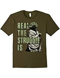 Yoda Real The Struggle Is Graphic T-Shirt