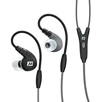 MEE audio M7P Secure-Fit Sports In-Ear Headphones with Mic, Remote, and Universal Volume Control (Black)