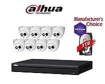 Dahua Branded 16CH Tribrid 720P/1080P DVR Package: HCVR5216 w/3TB HDD + (8) 2MP HDW12A0EN IR 3.6MM Eyeball