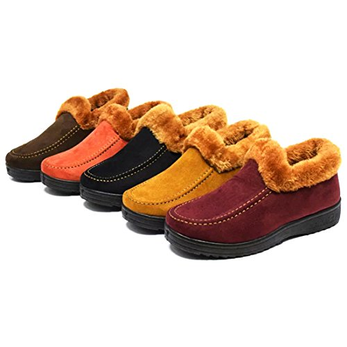 Snow ON Fur Shoes Lined Warm amp;N Women Coffee Boot O Winter Slip UWIcOIfqZ