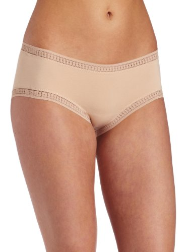 (On Gossamer Women's Cabana Cotton Boyshort Panty,Champagne,Small)