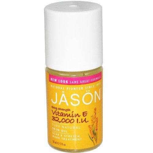 JASON Extra Strength 32,000 I.U. Vitamin E Oil, 1 Ounce Bottles (Pack of 2)