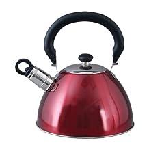 Gibson Mr. Coffee Morbern Tea Kettle, 1.8-Quart, Red