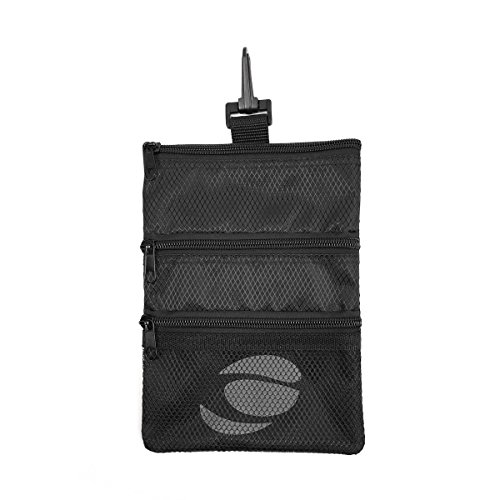 Bag Tee Golf (Orlimar Men's Golf Detachable Accessory Pouch, Black)