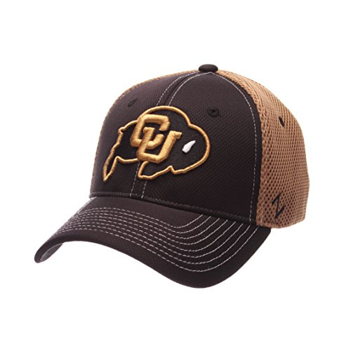 NCAA Colorado Buffaloes Men's Rally Z-Fit Cap, Medium/Large, Black/Vegas