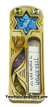 Yourholylandstore Star of David Car Mezuzah with Scroll by (Mezuzah Car)