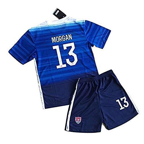 Taoyuan JIEYI 2015 Alex Morgan #13 Kids/Youth Away Jerseys Shorts (9-10 Years) - Away Youth Mets Jersey